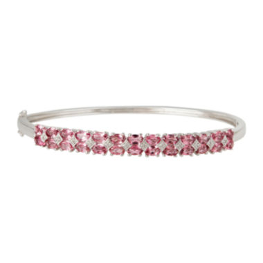 jcpenney.com | LIMITED QUANTITIES  Genuine Pink Tourmaline Sterling Silver Bangle