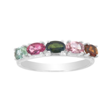jcpenney.com | LIMITED QUANTITIES  Genuine Multicolor Tourmaline 14K White Gold Ring