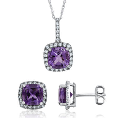 jcpenney.com | Genuine Amethyst and Lab-Created White Sapphire Earrings or Necklace