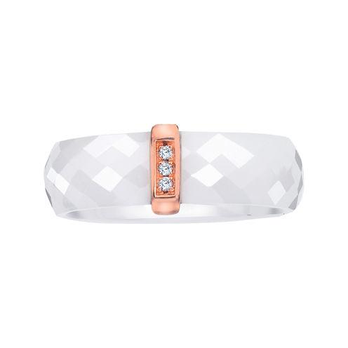 Diamond-Accent White Ceramic Band