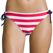 Arizona Americana Striped Keyhole Hipster Swim Bottoms - Juniors