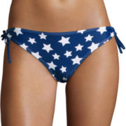 Arizona Americana Stars Keyhole Hipster Swim Bottoms - Juniors