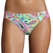 Arizona Paisley Double-Strap Hipster Swim Bottoms - Juniors