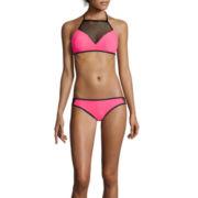 Arizona This & That Mesh High-Neck Swim Top or Hipster Swim Bottoms or Swim Coverup