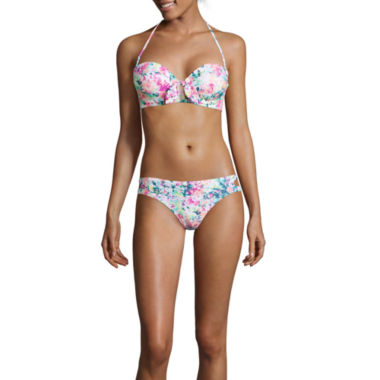 jcpenney.com | Arizona Floral Pushup Swim Top or Hipster Swim Bottoms - Juniors