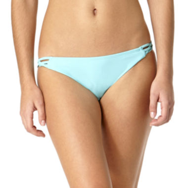 jcpenney.com | Arizona Crochet Side-Tab Hipster Swim Bottoms - Juniors