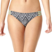 Arizona Chevron 3-Strap Hipster Swim Bottoms - Juniors