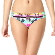 Arizona Dream Tropical Macramé Side-Tab Hipster Swim Bottoms - Juniors