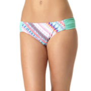 Arizona Bliss Macrame Side-Tab Hipster Swim Bottoms - Juniors