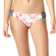 Arizona Palm Springs Side-Tab Hipster Swim Bottoms - Juniors