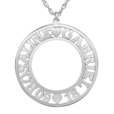 jcpenney.com | Personalized Couples Name and Date 28mm Circle Pendant Necklace