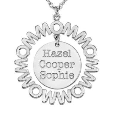 jcpenney.com | Personalized Mom and Children Circle 27mm Pendant Necklace