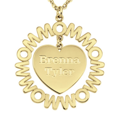jcpenney.com | Personalized Mom and Children Heart 27mm Pendant Necklace