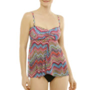 Studio by Christina Chevron Print Flyaway Tankini Swim Top