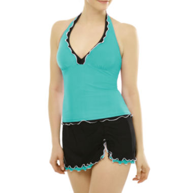jcpenney.com | Studio by Christina Frilled Halter Tankini Swim Top or Frilled Skirted Swim Bottoms