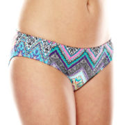 Liz Claiborne® Tribal Chevron Hipster Swim Bottom