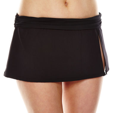 jcpenney.com | Liz Claiborne® Solid Skirted Hipster Swim Bottoms