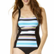 St. John's Bay® Striped Tankini Swim Top
