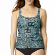 St. John's Bay® Geometric Print Tankini Swim Top