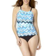 St. John's Bay® Chevron High-Neck Tankini Swim or Swim Bottoms