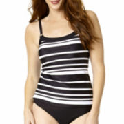 St. John's Bay® Striped Camikini Swim Top