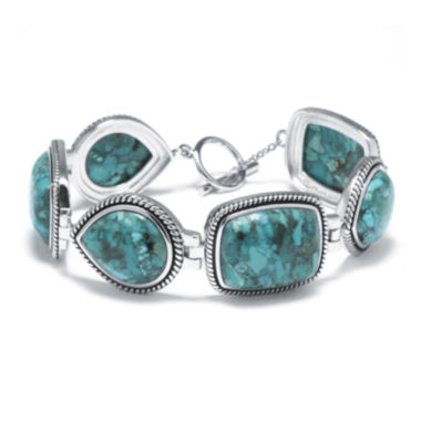 jcpenney.com | Enhanced Turquoise Sterling Silver Bracelet