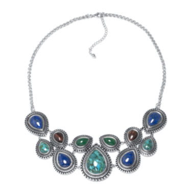 jcpenney.com | Enhanced Turquoise and Multi-Stone Sterling Silver Necklace