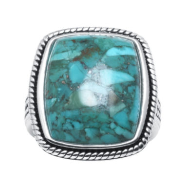 jcpenney.com | Enhanced Turquoise Sterling Silver Square Ring
