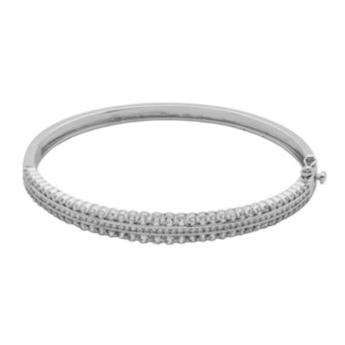 jcpenney.com | DiamonArt® Cubic Zirconia Sterling Silver Bangle