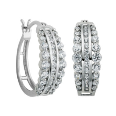 jcpenney.com | DiamonArt® Cubic Zirconia Hoop Earrings