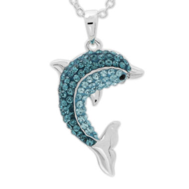 jcpenney.com | Crystal Dolphin Sterling Silver Pendant Necklace