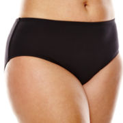 Liz Claiborne® Solid Hipster Swim Bottom - Plus