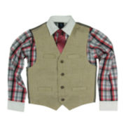 Steve Harvey® 3-pc. Vest, Shirt,and Tie Set - Boys 8-20