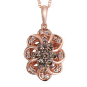 CLOSEOUT! Le Vian Grand Sample Sale 1/4 CT. T.W. White and Chocolate Diamond Loop Necklace