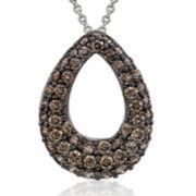 Le Vian Grand Sample Sale 1 CT. T.W. Chocolate Diamond Teardrop Pendant Necklace