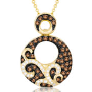 Le Vian Grand Sample Sale 1/2 CT. T.W. White and Chocolate Diamond Circle Necklace