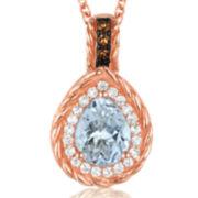 Le Vian Grand Sample Sale Genuine Aquamarine Teardrop Pendant Necklace