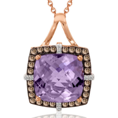 jcpenney.com | LIMITED QUANTITIES  Le Vian Grand Sample Sale Chocolatier Genuine Amethyst and Chocolate Diamond Necklace