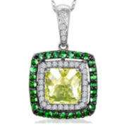 CLOSEOUT! Le Vian Grand Sample Sale Genuine Green Quartz and Tsavorite Framed Pendant Necklace