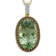 CLOSEOUT! Le Vian Grand Sample Sale Genuine Green Amethyst and Chocolate Diamond® Necklace