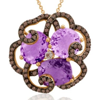 jcpenney.com | LIMITED QUANTITIES  Le Vian® Grand Sample Sale Genuine Amethyst and Chocolate Quartz Flower Necklace