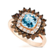 CLOSEOUT! Le Vian Grand Sample Sale Genuine Aquamarine and Brown Quartz Ring