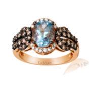 CLOSEOUT! Le Vian Grand Sample Sale Genuine Aquamarine and Diamond Ring
