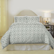 Pointehaven Ankara Flannel Duvet Cover Set