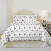 Pointehaven Autumn Deer Flannel Duvet Cover Set