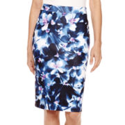 Liz Claiborne® Knit Pencil Skirt - Petite
