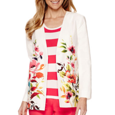 jcpenney.com | Liz Claiborne® Long-Sleeve Swing Printed Jacket