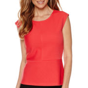 Liz Claiborne® Sleeveless Peplum Top