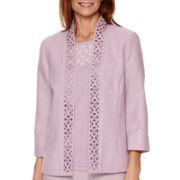 Alfred Dunner® Lavender Fields 3/4-Sleeve Novelty Jacket