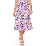 Alfred Dunner® Lavender Fields Print Skirt